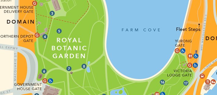 map the royal botanic garden sydney