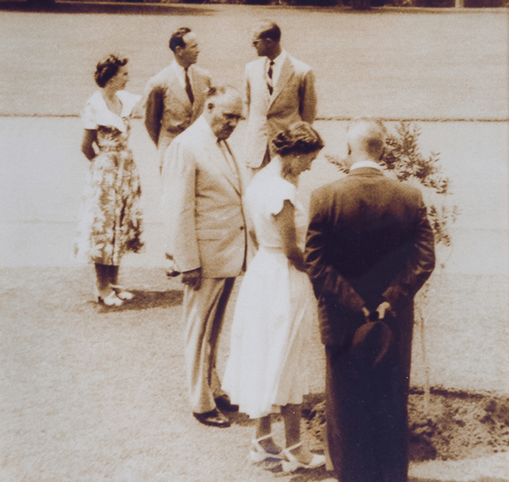 Queen Elizabeth Ii Planting A Tree During Her Visit, Which