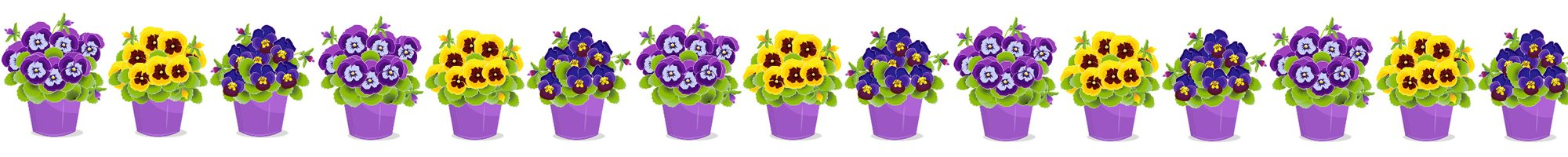 illustration of flowers in pots