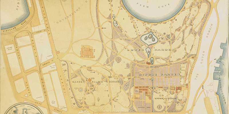 1914 map of botanic garden sydney